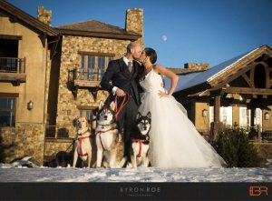 A  winter wedding at Pronghorn Resort. Picture by Byron Roe