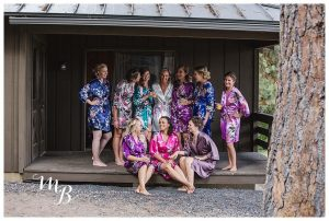 The Bridal party getting ready for pictures.