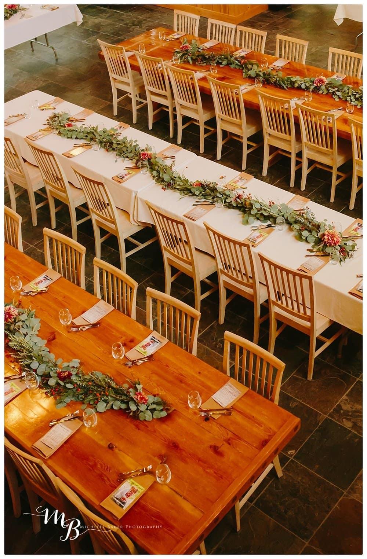GRand tables at Rock Springs Ranch